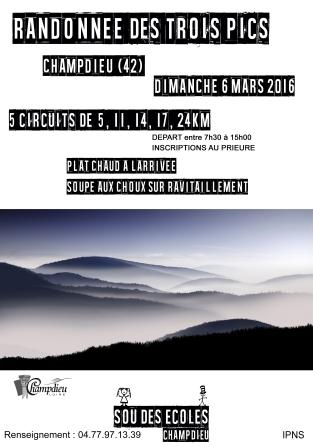 Marche des Trois Pics 2016_affiche def